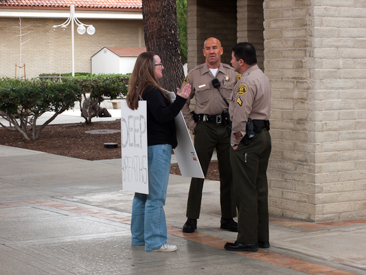 """Being reprimanded by the police: """"People have serious business here."""""""