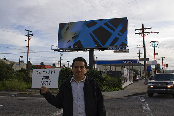 Ricardo and James Welling's artwork... La Brea, south of the 10 Freeway